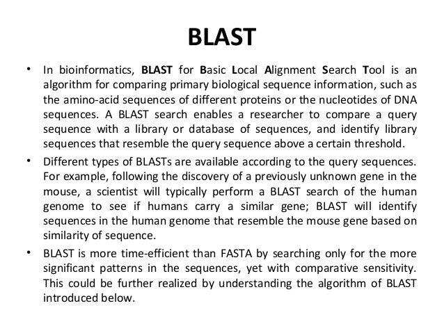 BLAST & Database Search - MIT OpenCourseWare