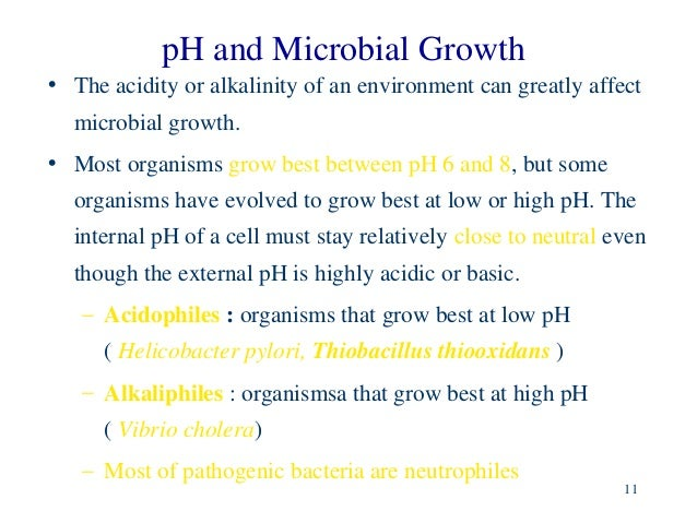 ph and microbial growth We set out to describe the effect of modification of ph on bacterial growth of  relevant bacteria as well as on activity of modern fluoroquinolones in urine in  vitro.