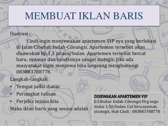B Indonesia Iklan
