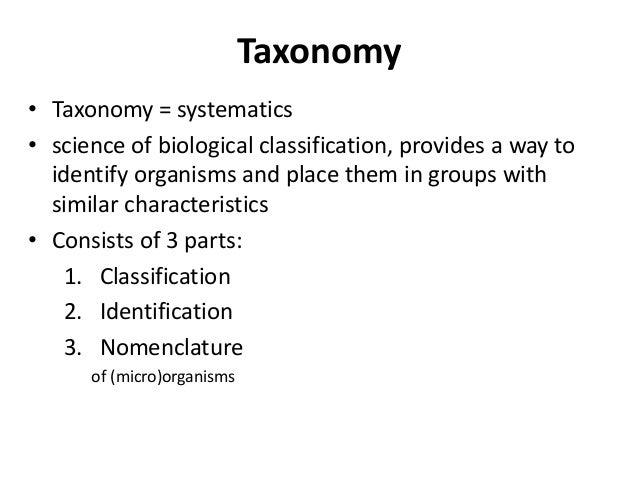 B.Sc. Biotech Biochem II BM Unit-1.2 Taxonomy and Classification