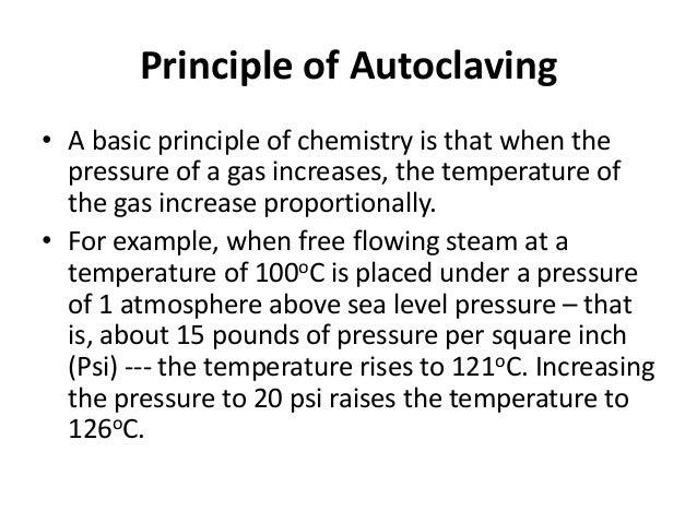 autoclave temperature and pressure relationship