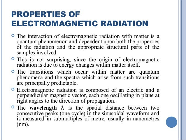 Properties of electromagnetic radiation pdf