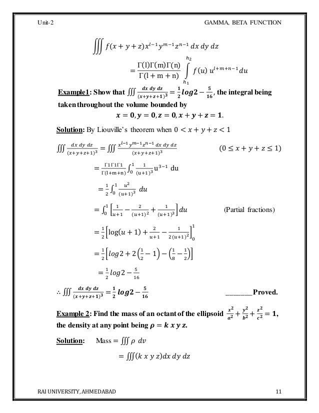 B Tech Ii Unit 2 Material Beta Gamma Function