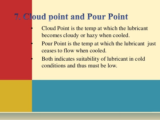 Difference Between Cloud Point and Pour Point