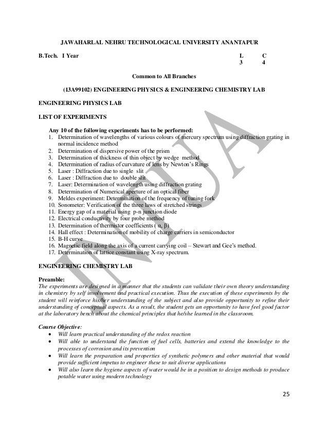 jntua r13 regulation syllabus rh slideshare net