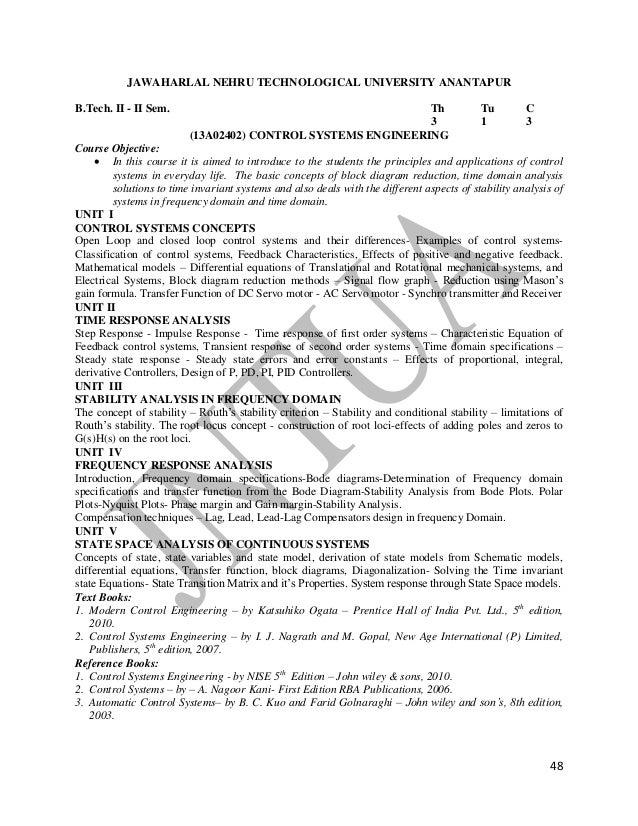 jntua r13 regulation syllabus