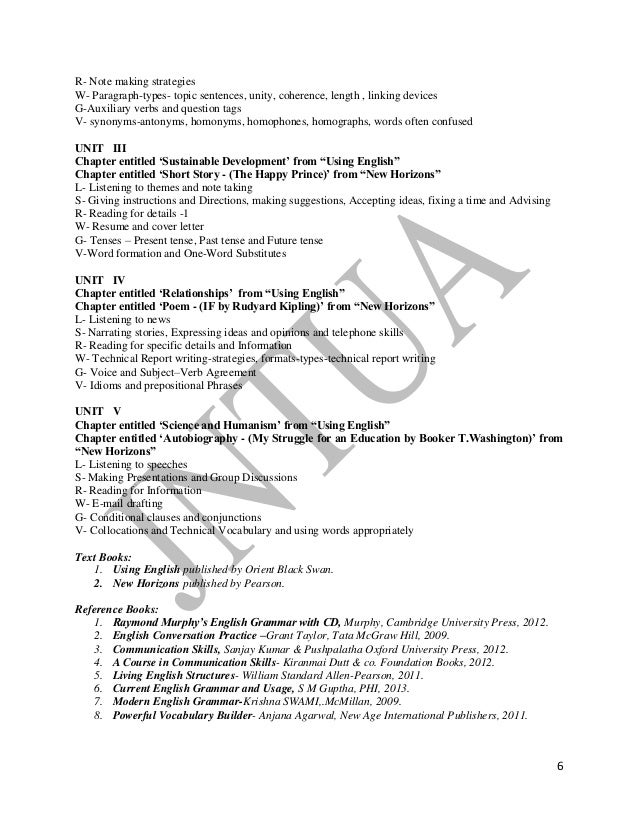 JNTUA R13 REGULATION SYLLABUS