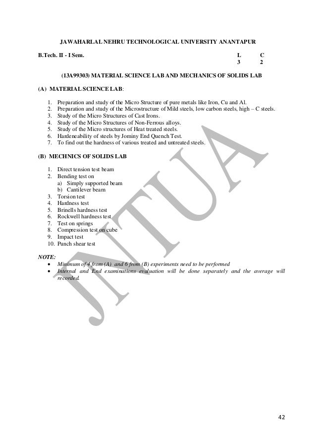 B tech mechanicalengg r13 syllabus 42 fandeluxe Image collections