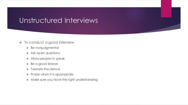 structured and unstructured interview