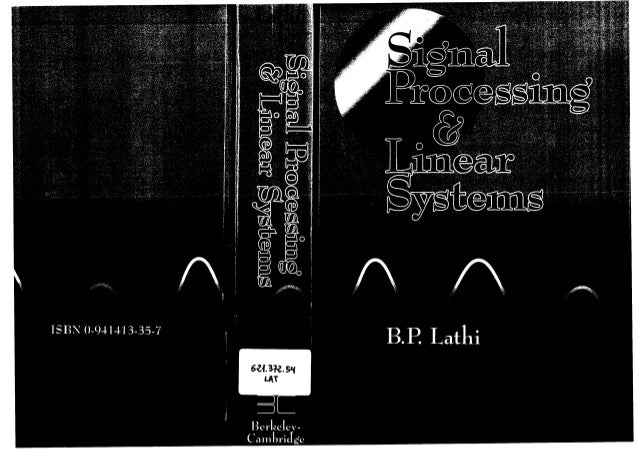 B P Lathi Signal Processing And Linear Systems Berkeley