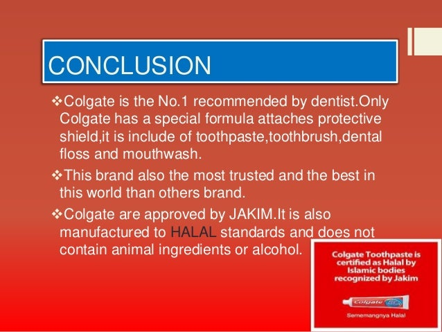 project report on colgate toothpaste