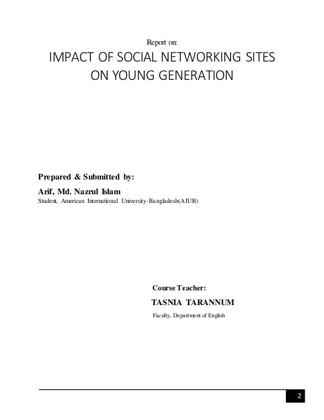 Impact of social networking on todays youth
