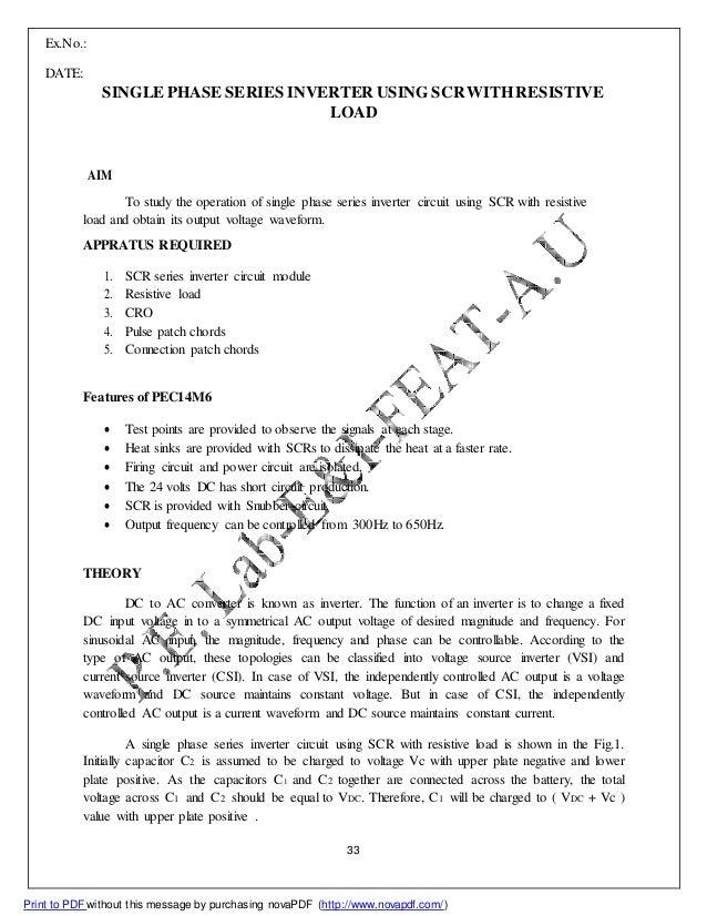 SERIES INVERTER USING SCR PDF DOWNLOAD