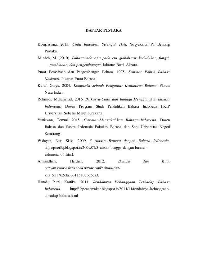 Makalah Bahasa Indonesia Sebagai Bahasa Nasional