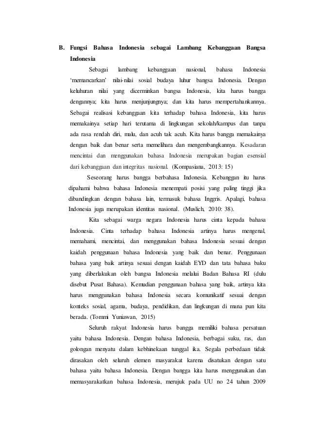 Peran Bahasa Indonesia Sebagai Alat Pemersatu