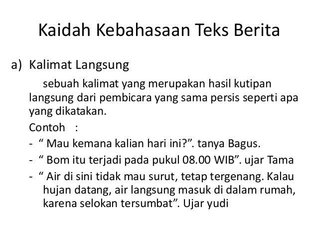 Teks Berita Bahasa Indonesia