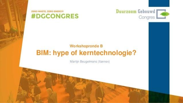 Workshopronde B BIM: hype of kerntechnologie? Martijn Beugelmans (Itannex)