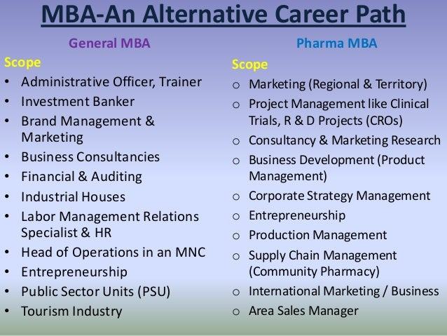 mba an alternative career path general mba scope - Mba Career Opportunities Career In Mba Career Path