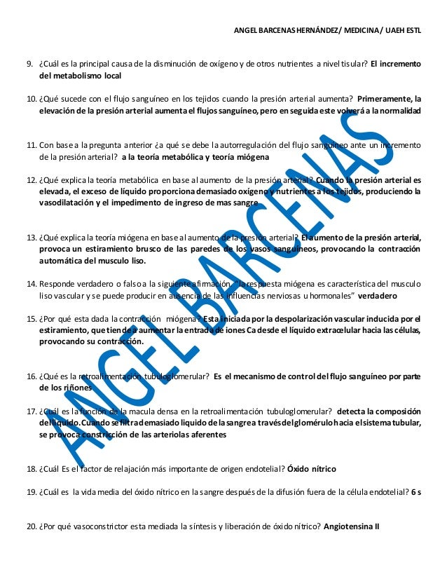 GUIA PARA EXAMEN / CAP. 17 DE FISIOLOGIA MÉDICA GUYTON & HALL