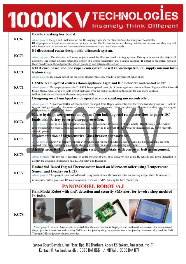 Amazing Digital Electronics Mini Projects List Component ...