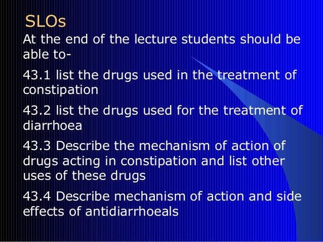 B 19 Drugs For Diarrhoea Amp Constipation