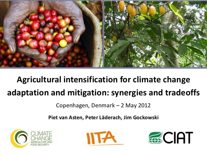 Agricultural intensification for climate changeadaptation and mitigation: synergies and tradeoffs             Copenhagen, ...
