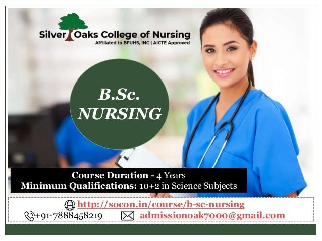 Course Duration - 4 Years Minimum Qualifications: 10+2 in Science Subjects B.Sc. NURSING http://socon.in/course/b-sc-nursi...