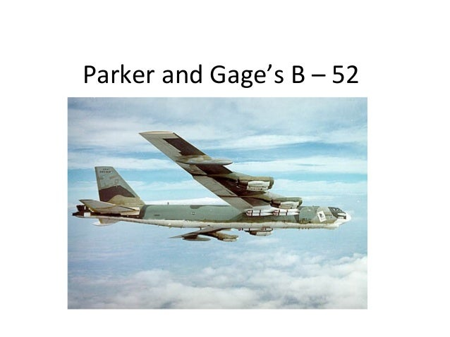 Parker and Gage's B – 52 Animation