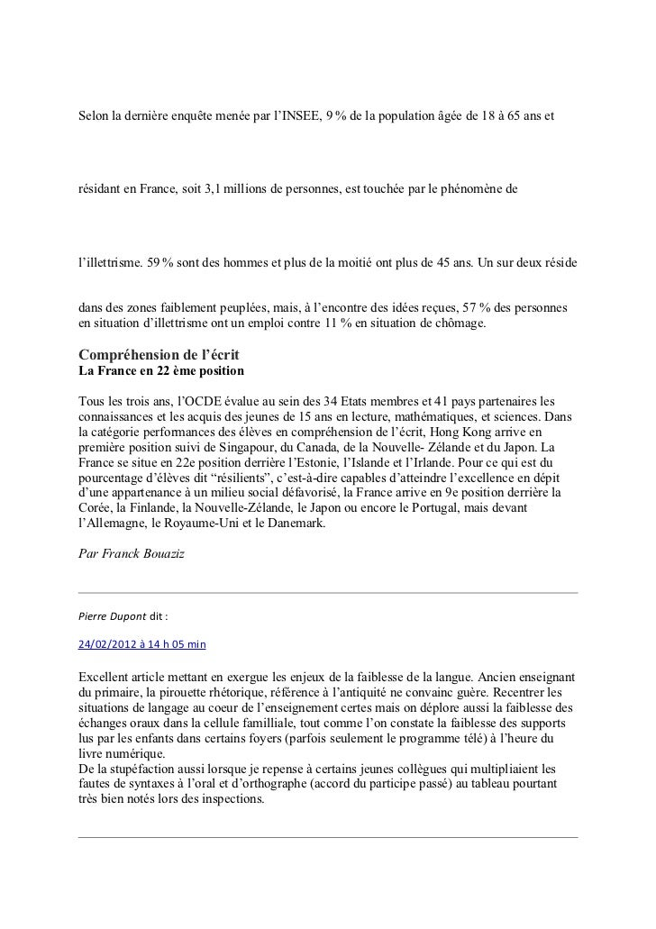 Selon la dernière enquête menée par l'INSEE, 9% de la population âgée de 18 à 65 ans etrésidant en France, soit 3,1milli...