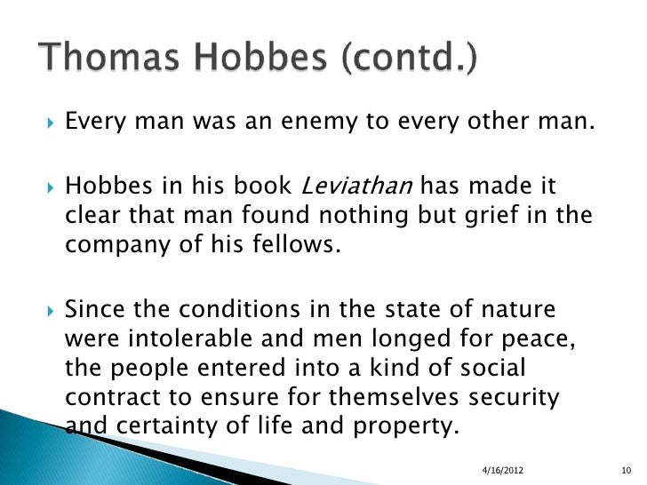 the concept of the state of nature in leviathan a book by thomas hobbes The book the leviathan in the state theory of thomas hobbes: meaning and failure of a political symbol, carl schmitt is published by university of chicago press.