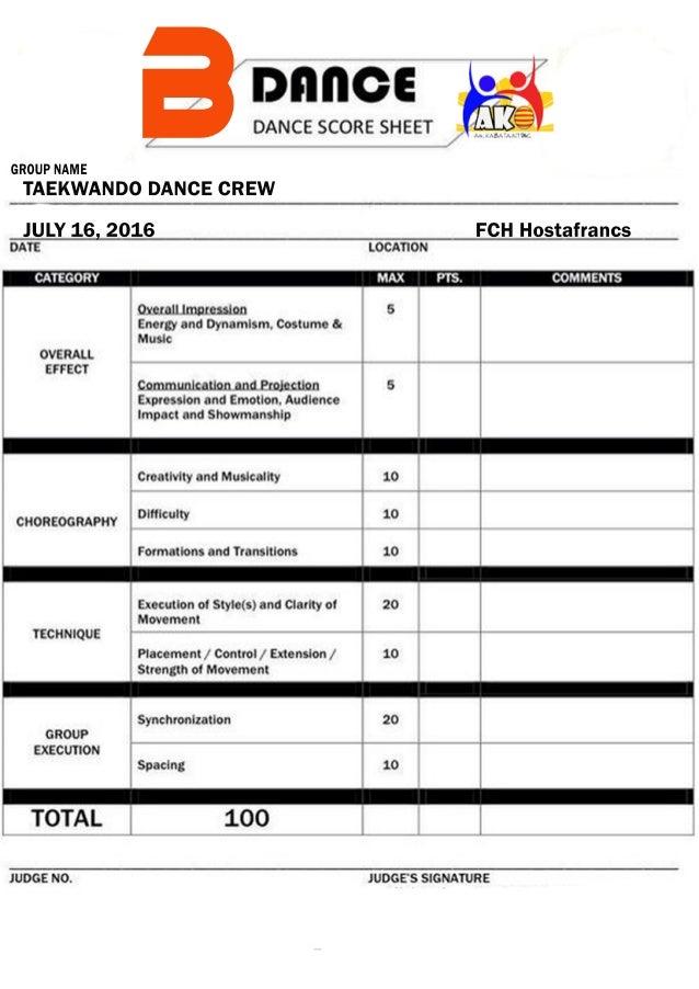 b dance score sheet pdf