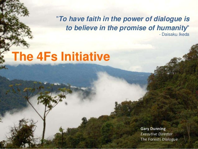 """""""To have faith in the power of dialogue is           to believe in the promise of humanity""""                               ..."""