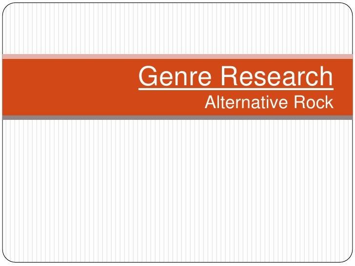 Genre Research    Alternative Rock