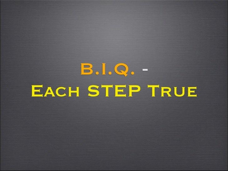 B.I.Q. -Each STEP True