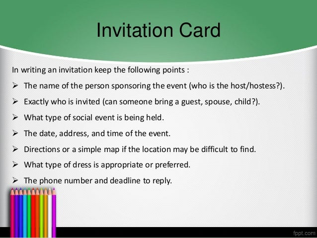 B Inggris Invitation Card Announcement