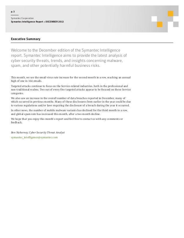 Symantec Intelligence Report 2013 Slide 3