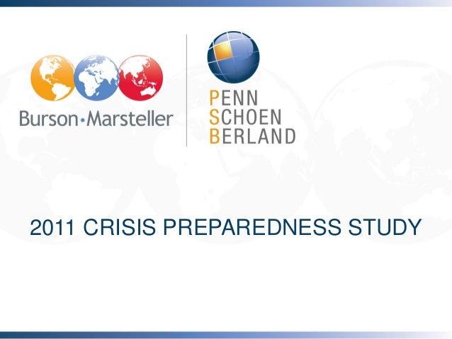2011 CRISIS PREPAREDNESS STUDY