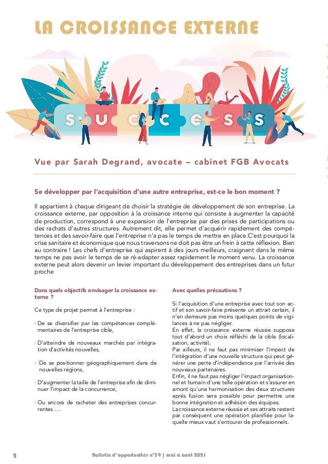 Bulletin d'opportunités 78   mai-août 2021 Slide 2