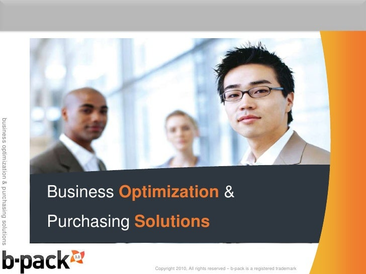 Business Optimization & Purchasing Solutions<br />