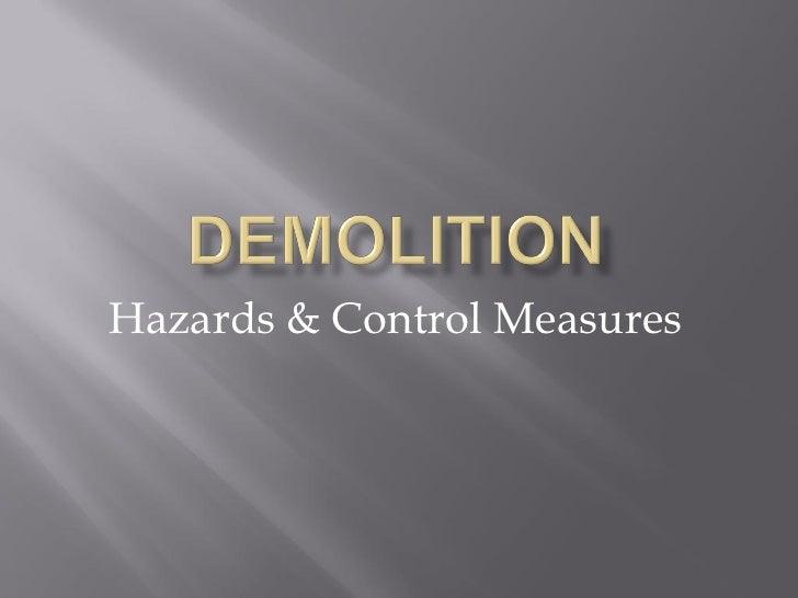 Hazards & Control Measures