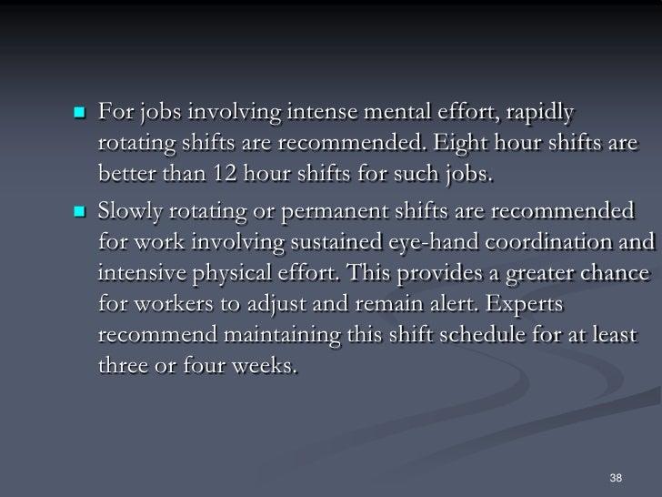 B Part 8 Managing Shift Work By J Mc Cann
