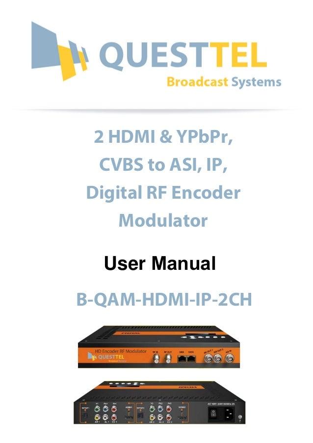 HDMI QAM Encoder-Modulator