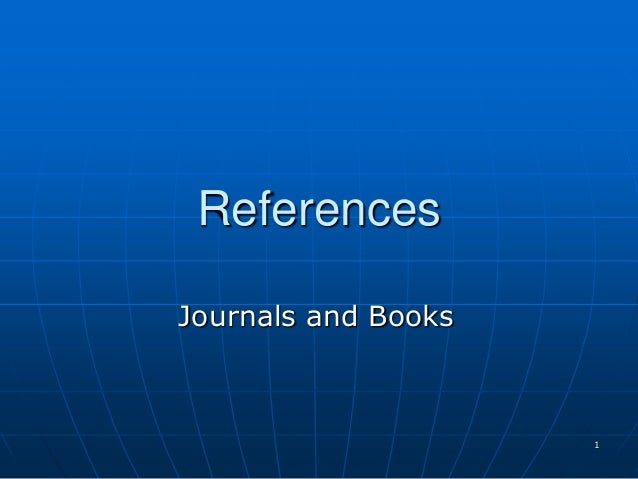 1 References Journals and Books