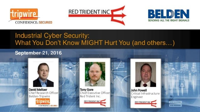 Industrial Cyber Security: What You Don't Know Might Hurt You (And Others...)