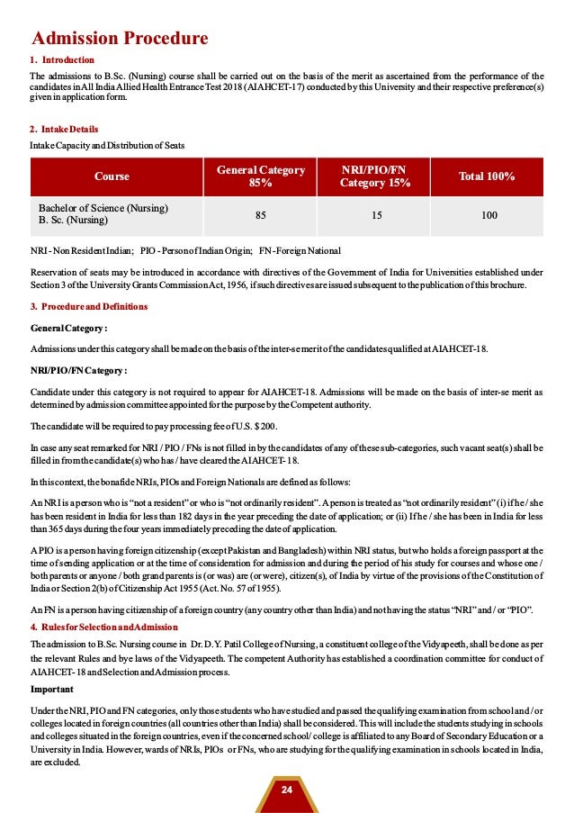 B Sc  Nursing admissions 2018 | Nursing admissions 2018 starts in DPU