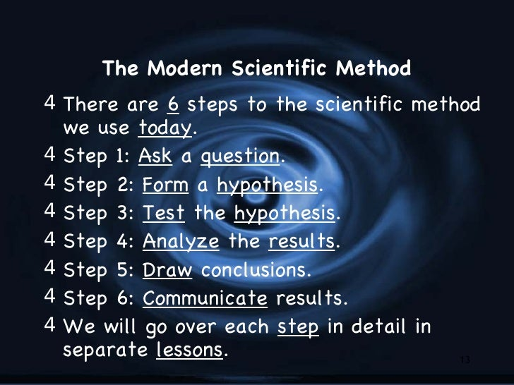 what are the steps in scientific method and describe each step In addition to describing the conventional rules about the format and content of   thinking of your research report as based on the scientific method, but  we're  going to proceed by explicitly connecting each section of the lab report to the  scientific method,  plan the steps of the experiment carefully with your lab  partners.