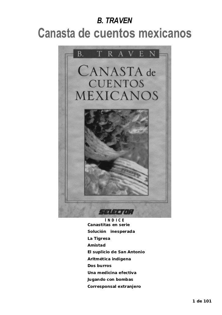 B. TRAVENCanasta de cuentos mexicanos                 ÍNDICE         Canastitas en serie         Solución     inesperada  ...