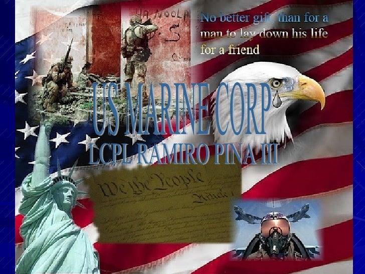 US MARINE CORP LCPL RAMIRO PINA III