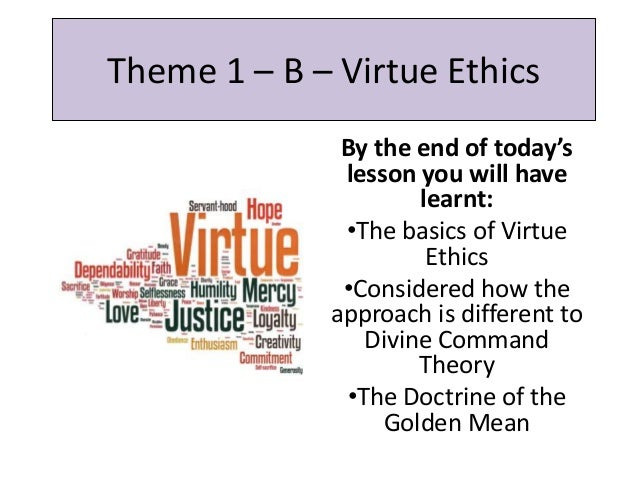 Ethical orientations: axiology.