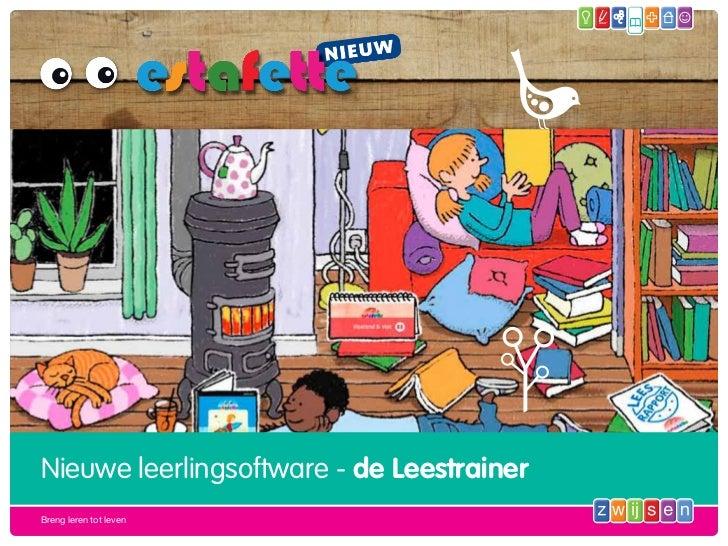 Nieuwe leerlingsoftware - de LeestrainerBreng leren tot leven